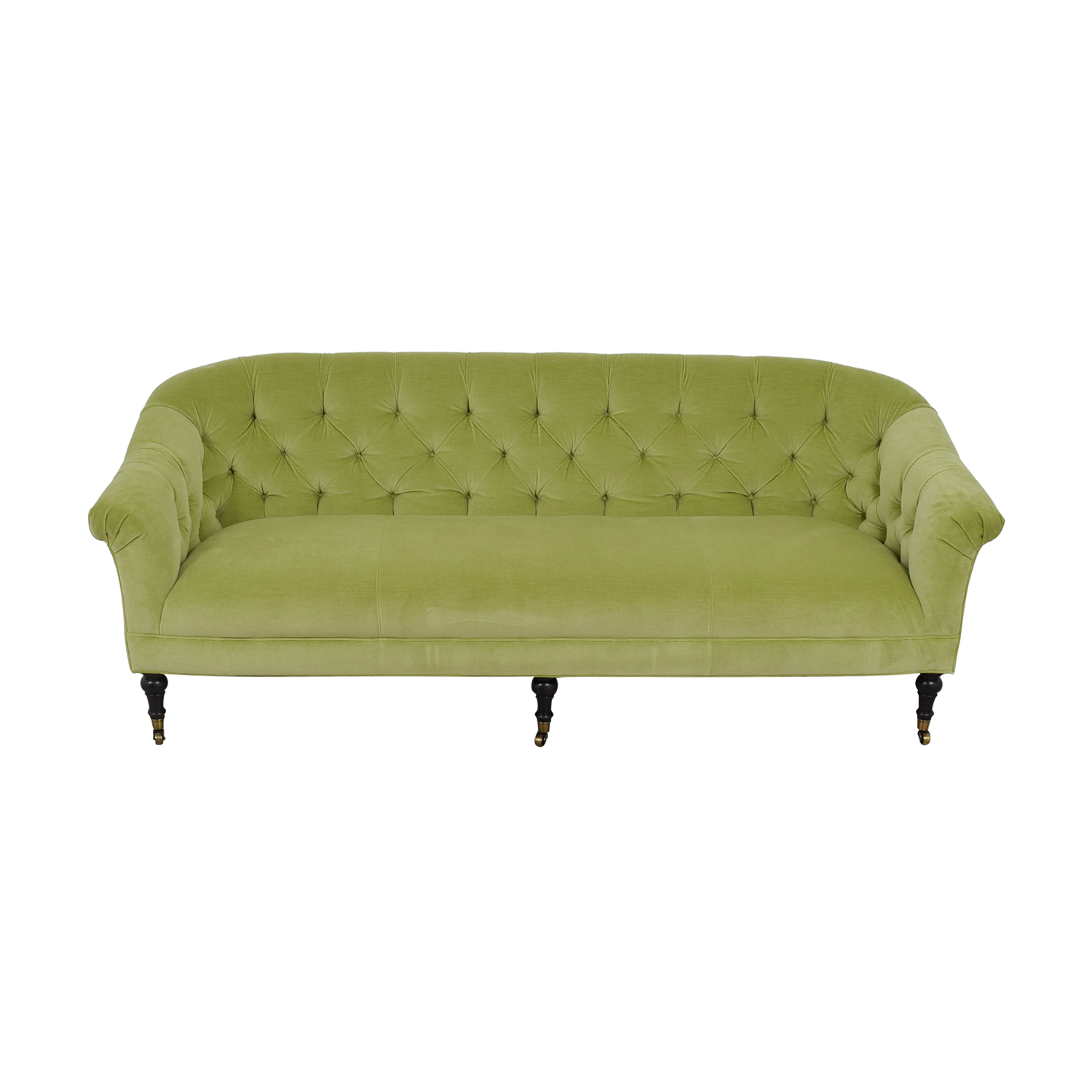 Arhaus Arhaus Green Tufted Sofa
