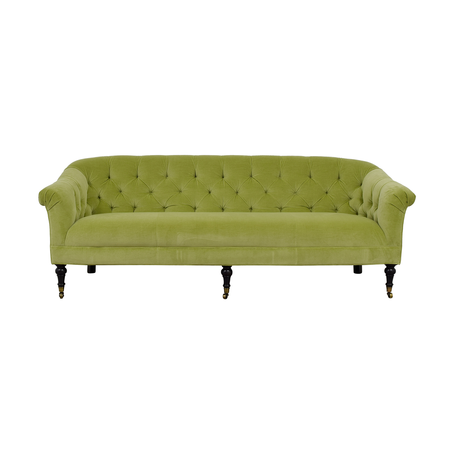 shop Arhaus Green Tufted Sofa Arhaus Classic Sofas