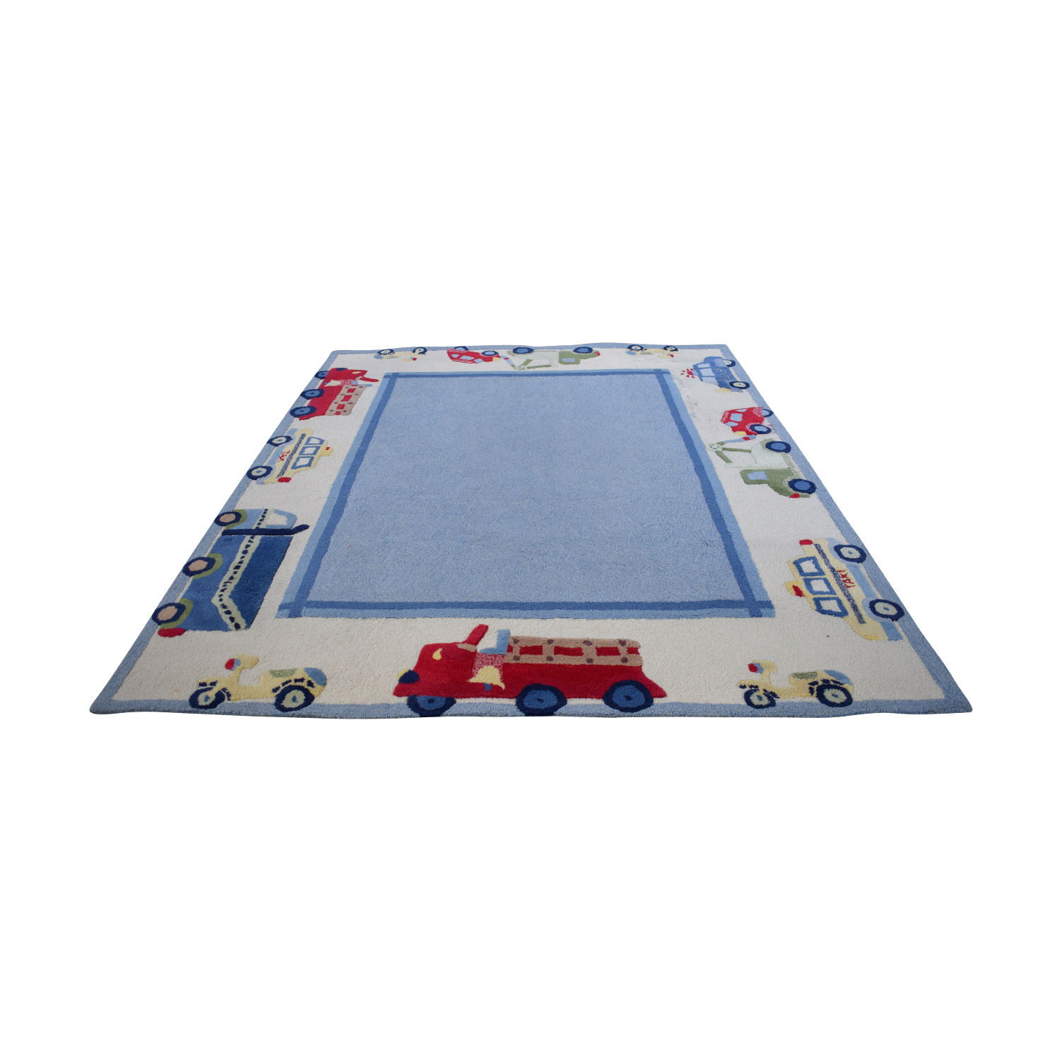 buy Pottery Barn Blue Car and Truck Rug Pottery Barn