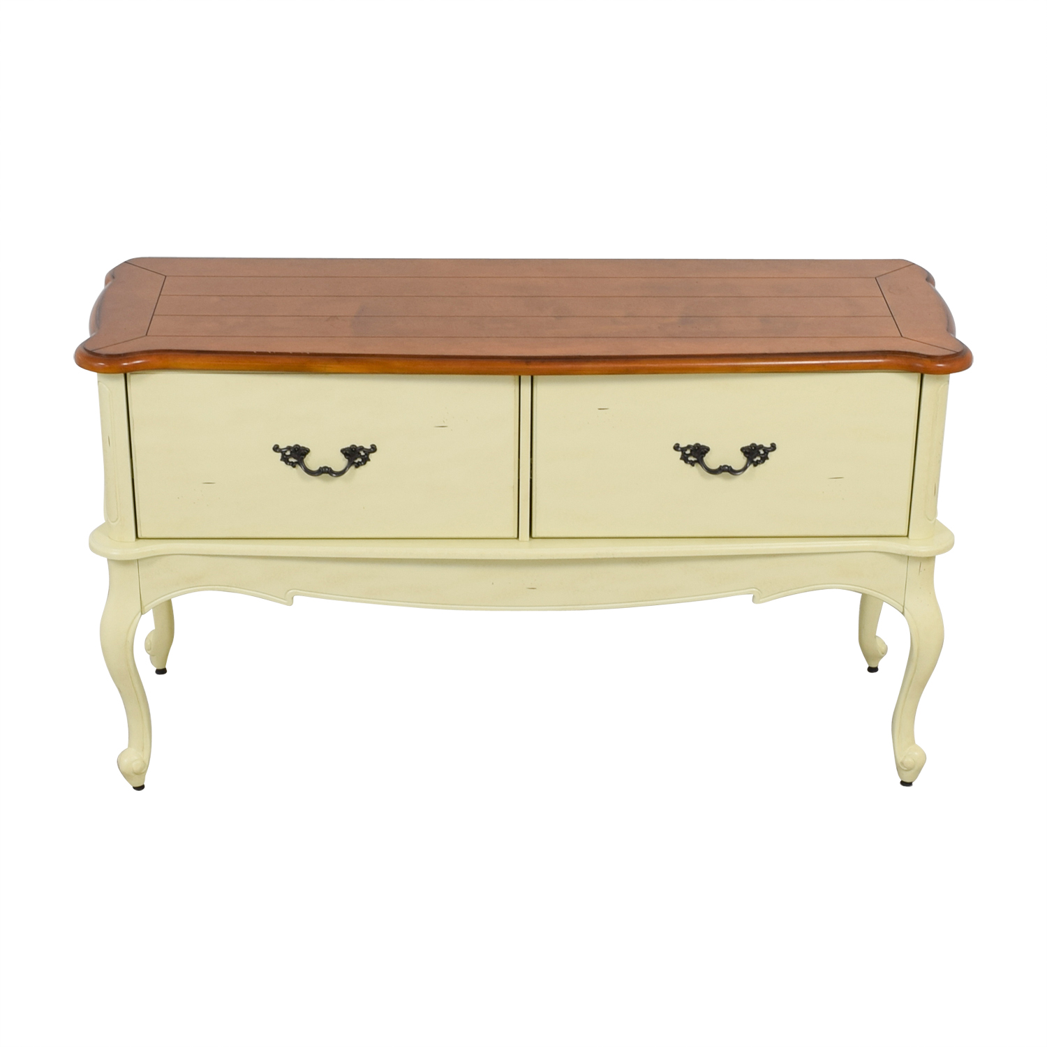 Home Decorators Collection Home Decorators Collection Provence Ivory File Console with Chestnut Top on sale