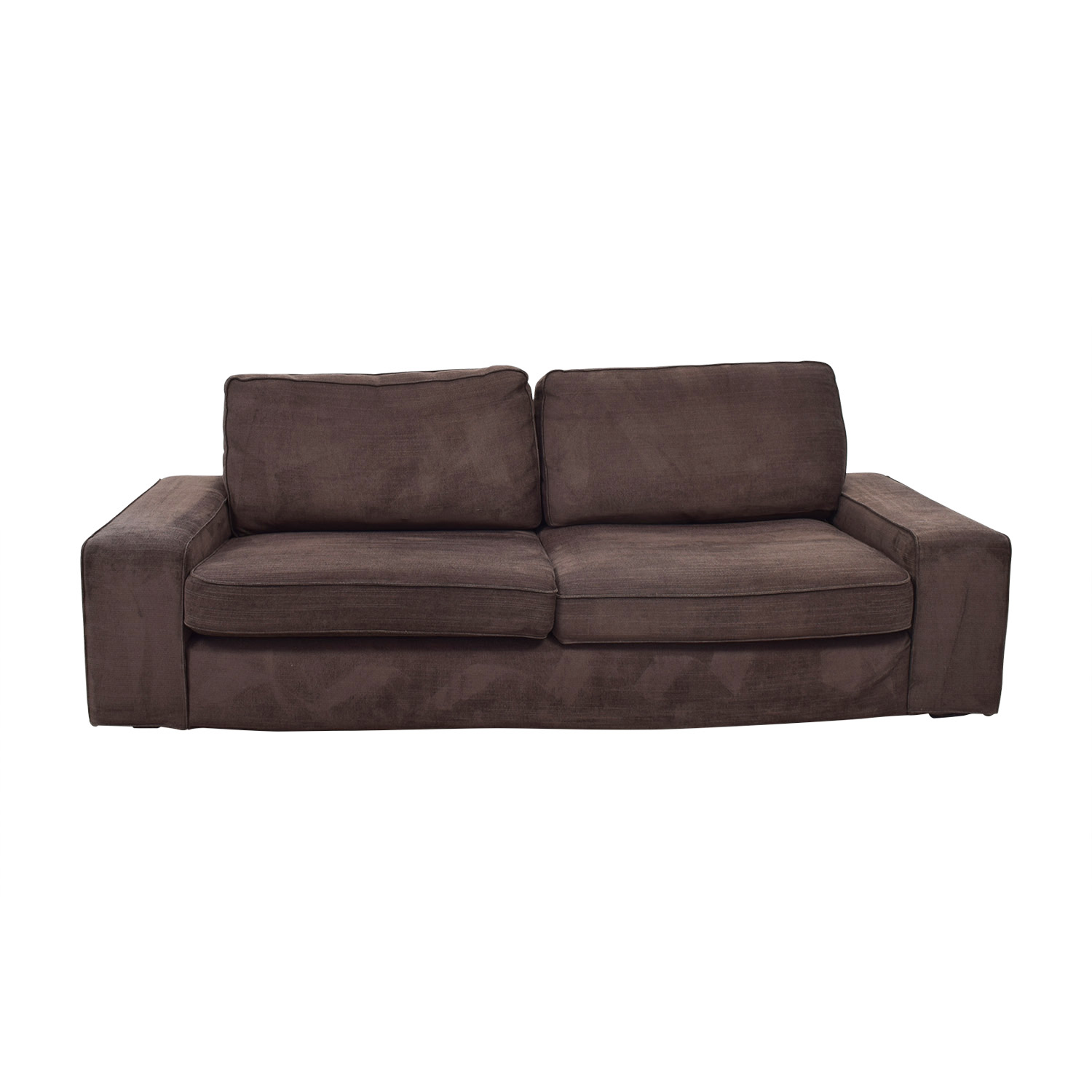IKEA IKEA Kivik Brown Two-Cushion Sofa dimensions