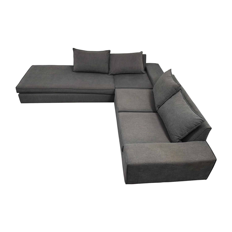 buy Viesso Viesso Blumen Custom Grey L-Shaped Sectional online