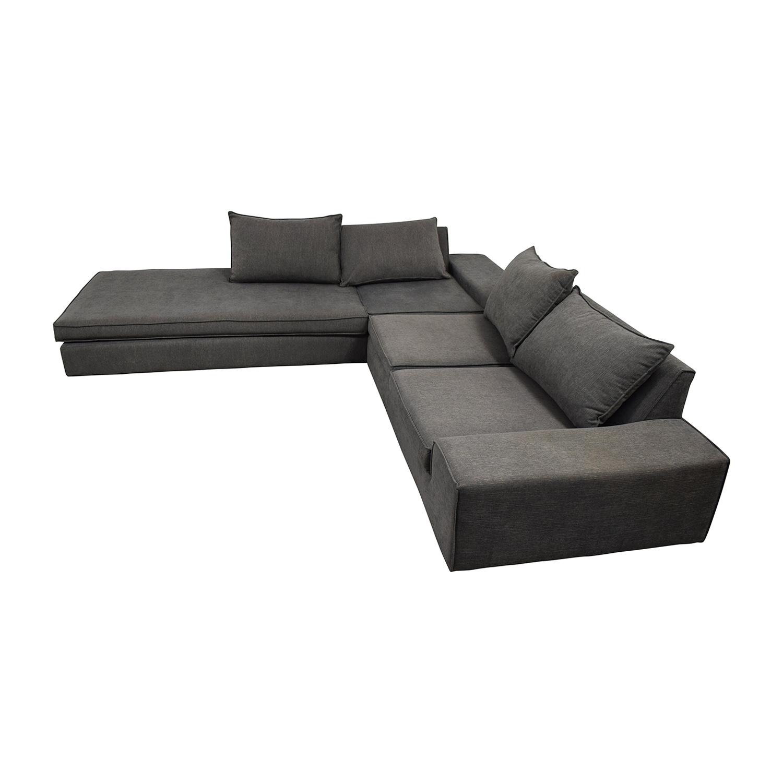 Viesso Blumen Custom Grey L-Shaped Sectional sale