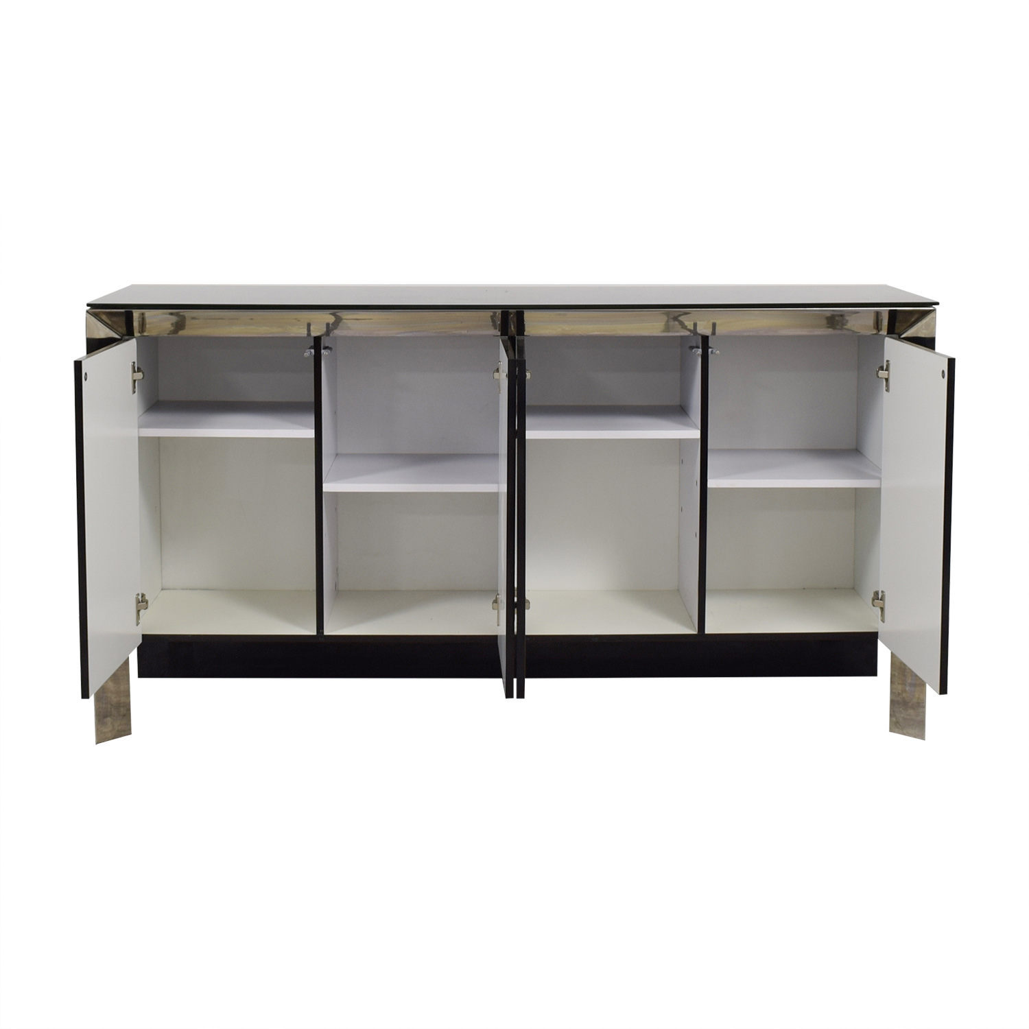 shop Creative Furniture Creative Furniture Vanda Black and Silver Buffet online