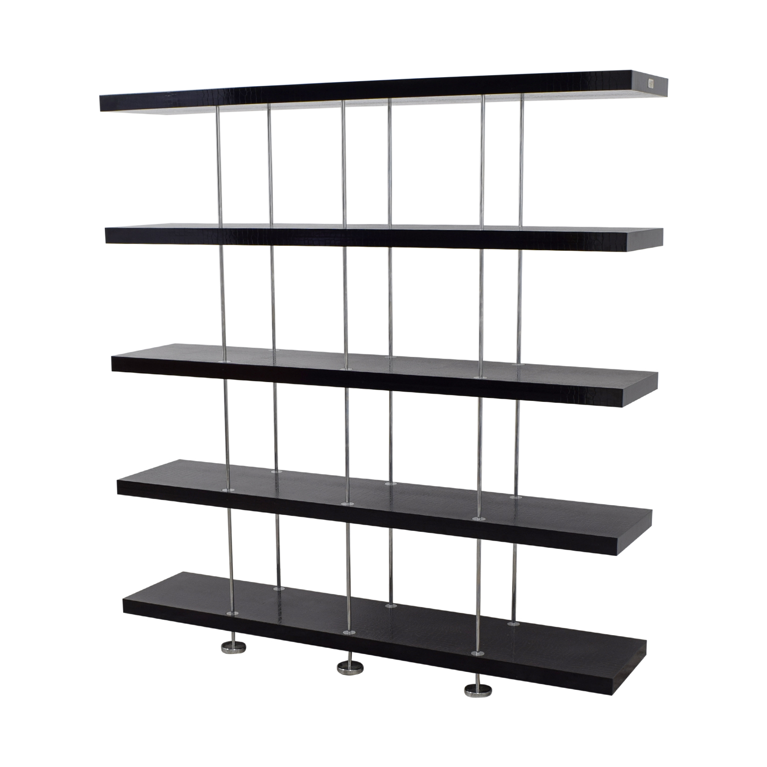 A&X A&X Stafford Crocodile Embossed Room Divider Bookshelf Storage