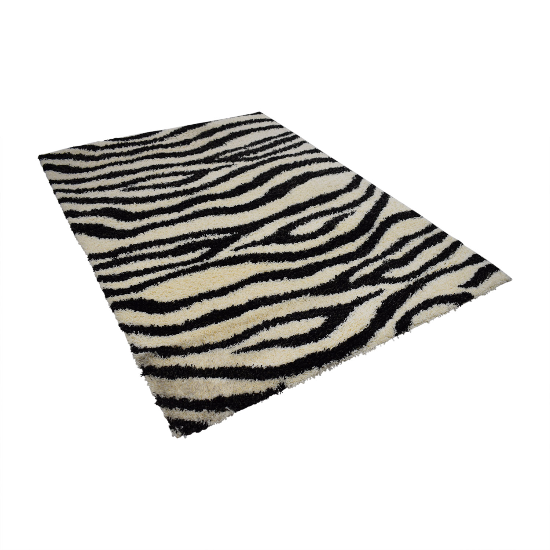 Kalora Kalora Shaggy Zebra Rug for sale