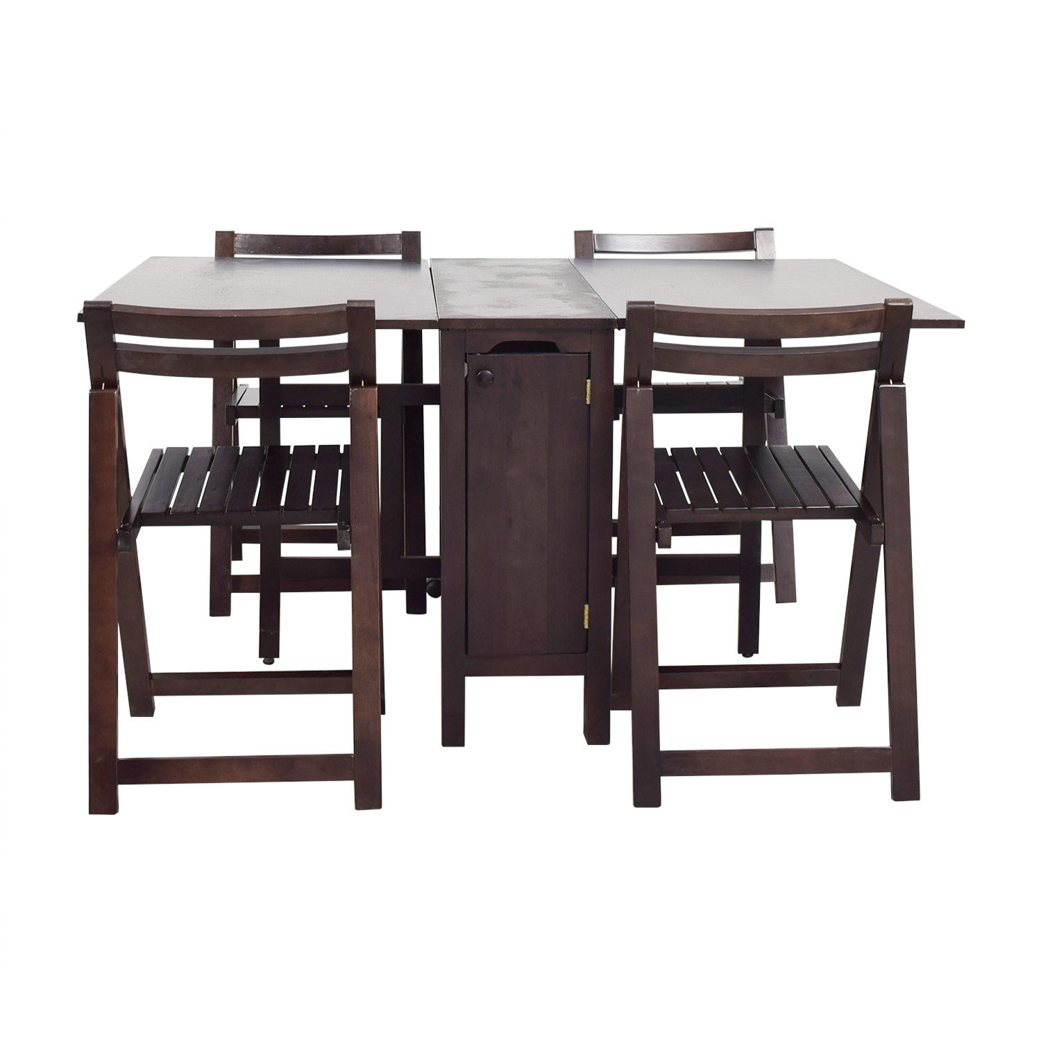 chairs wood setting sizing india table within bamboo x folding wooden trendy four set furniture space simple saving and design