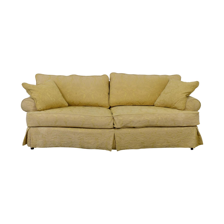 shop  Custom Gold Jacquard Slipcover Sofa online