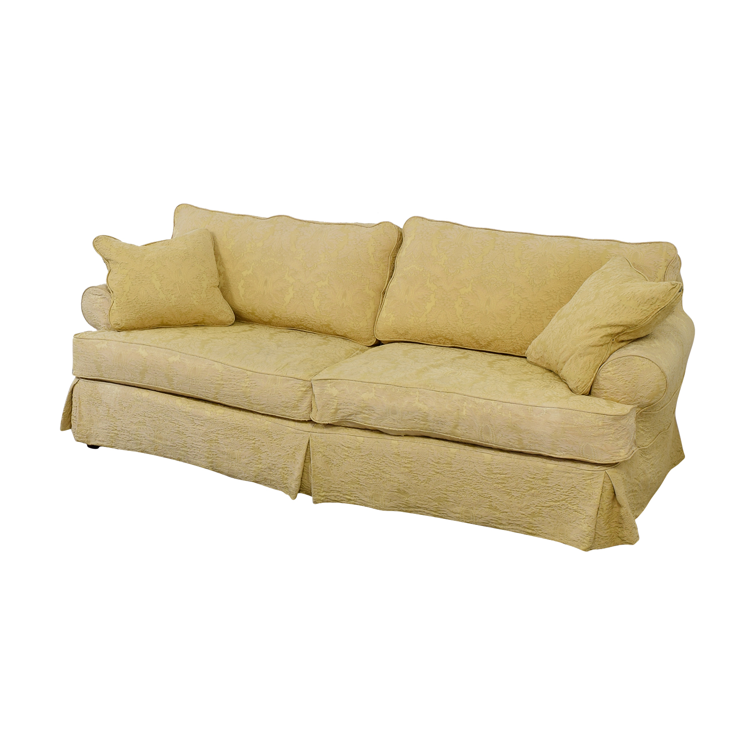 90 Off Custom Gold Jacquard Slipcover Sofa Sofas