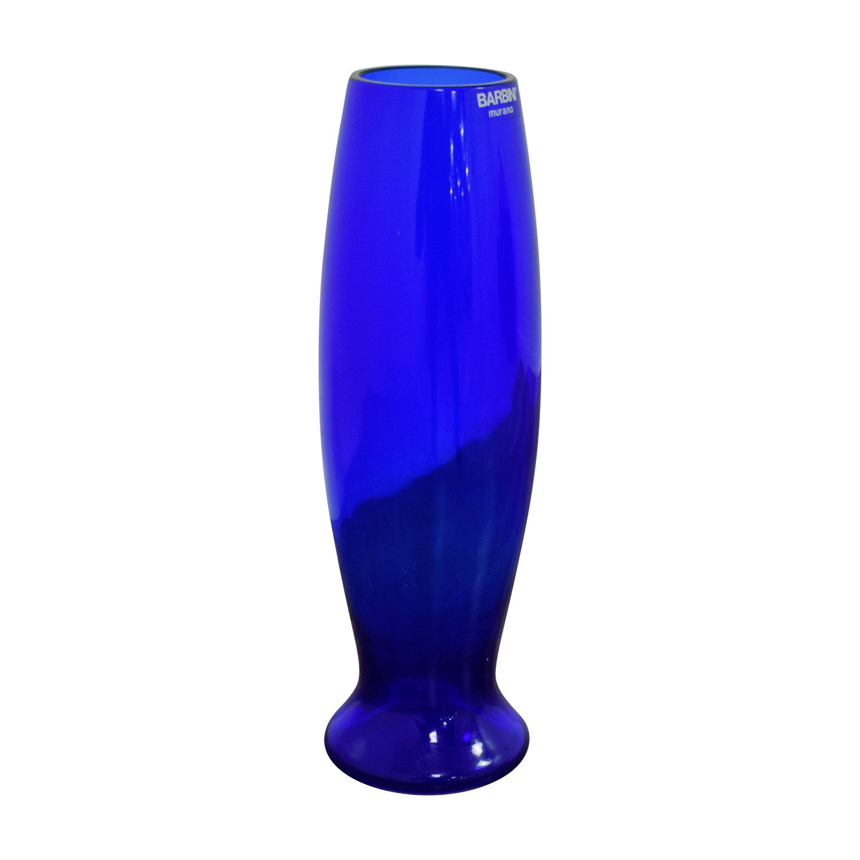Murano Murano Italian Blue Glass Vase nj
