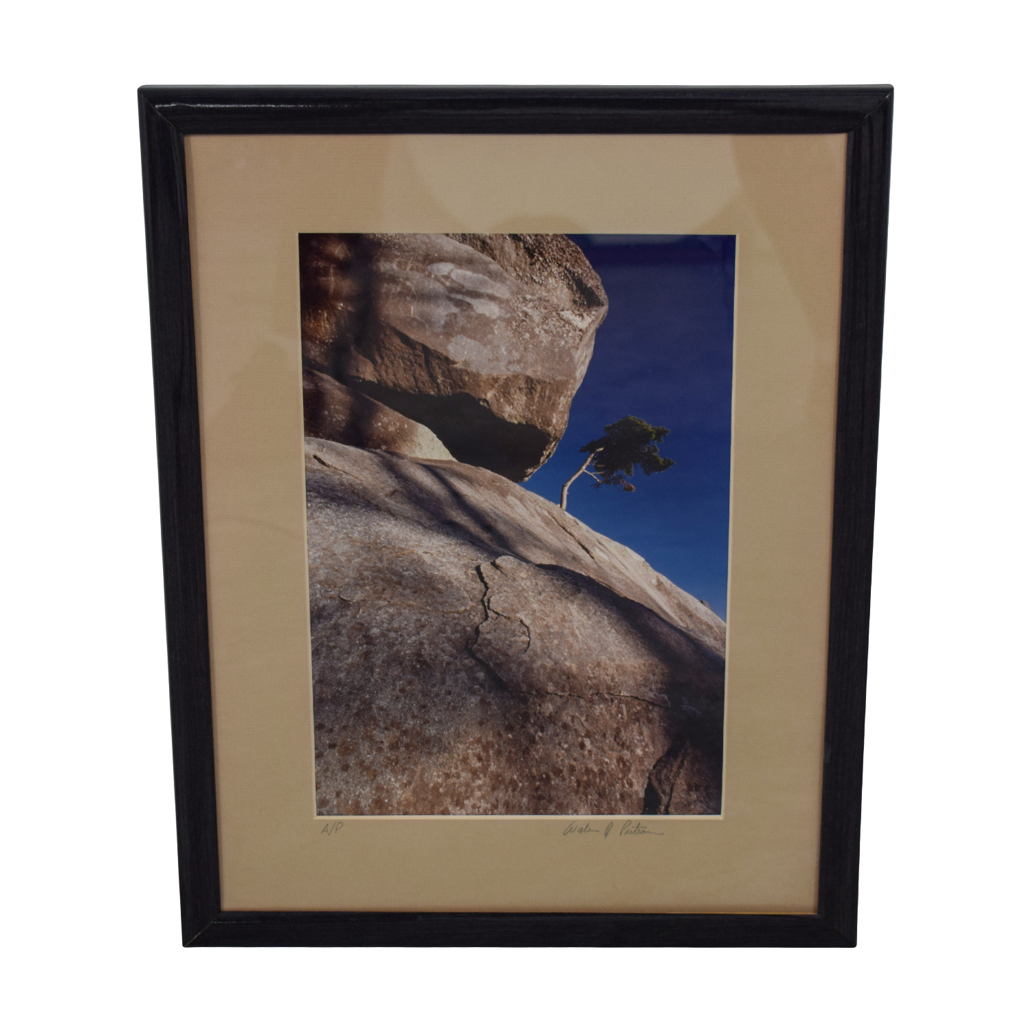 Signed Scenic Rock Photograph