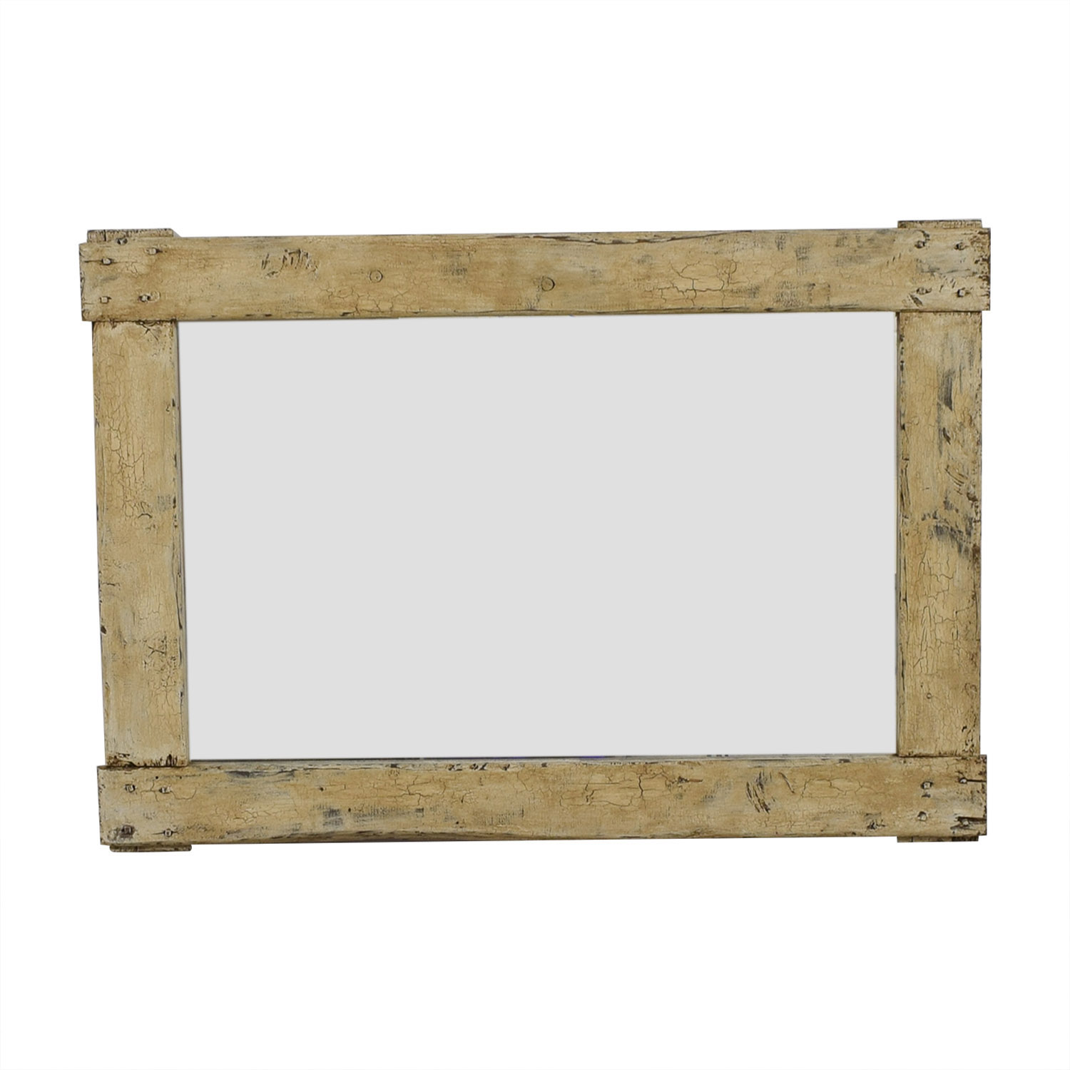 Pampa Tiles Pampa Tiles Custom Rustic Wood Frame Mirror for sale