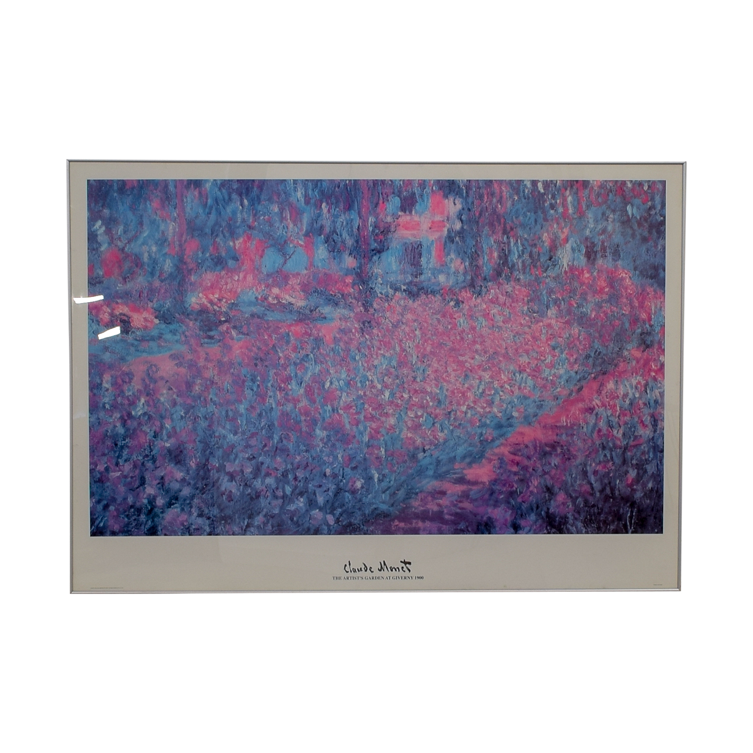 Claude Monet The Artist's Garden Poster second hand