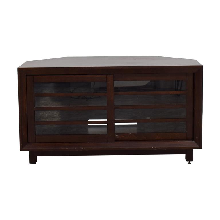 buy Solid Wood Corner Media TV Stand