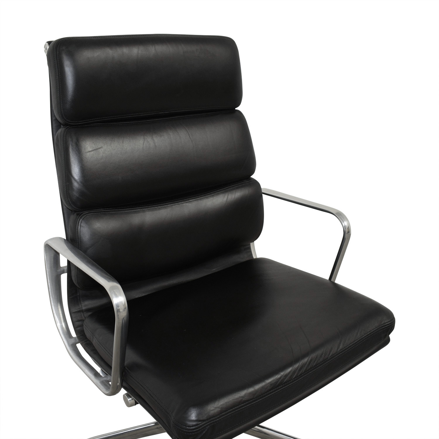 ... Buy Eames Softpad Executive Black Leather Chair Online
