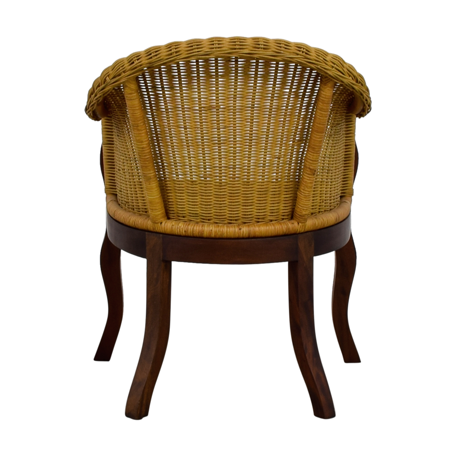 Wicker and Wood Accent Chair second hand