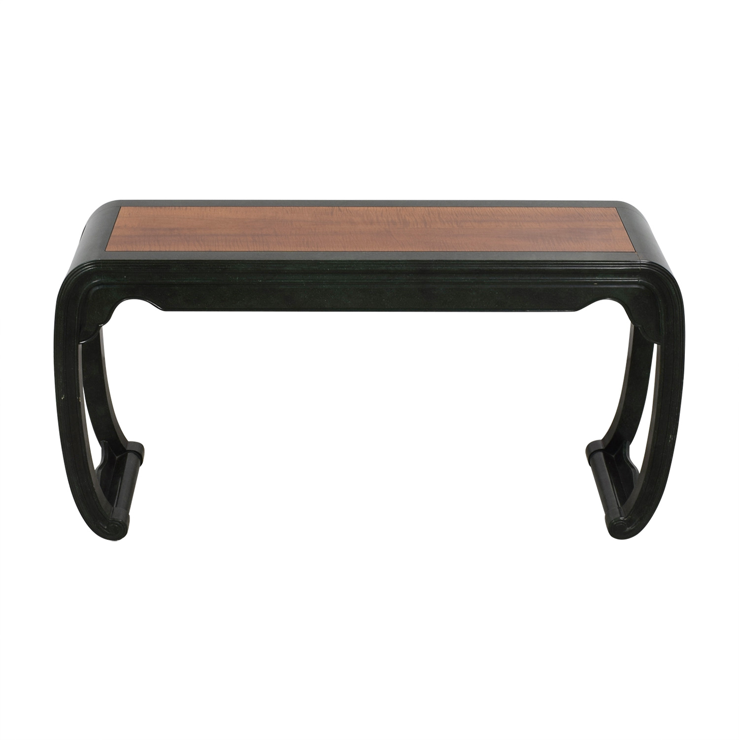 buy Asian Inspired Green Lacquer and Wood Side Table  Accent Tables