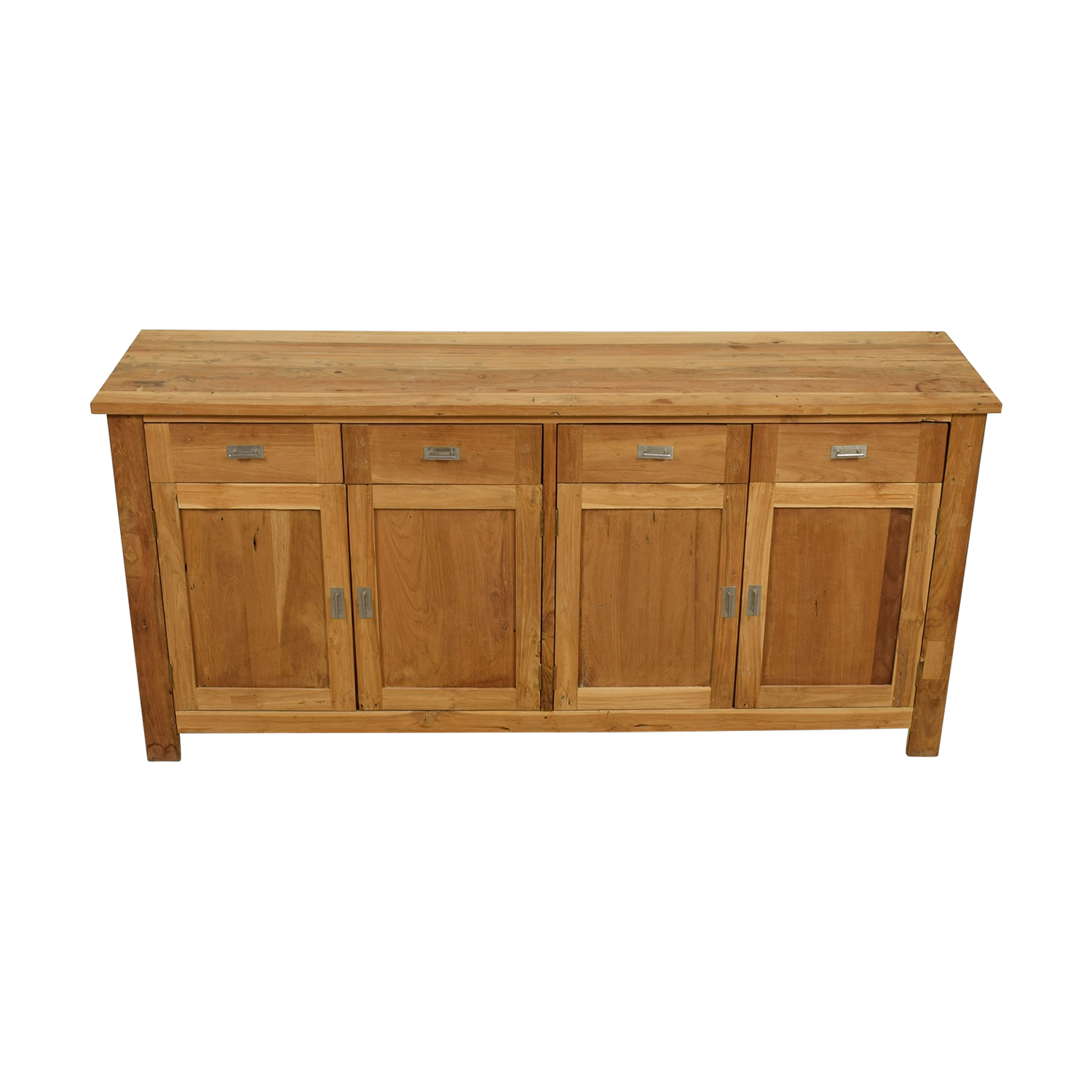 Rustic Pine Four-Drawer Sideboard second hand