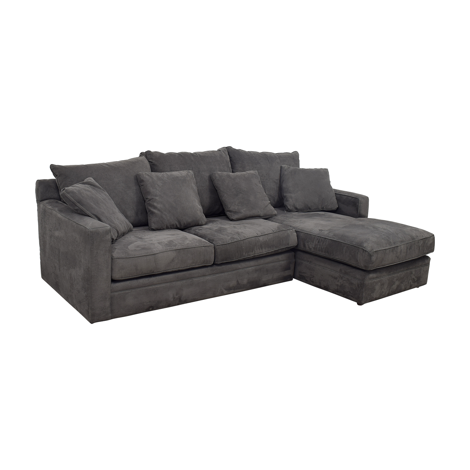 Room & Board Grey Chaise Sectional Room & Board