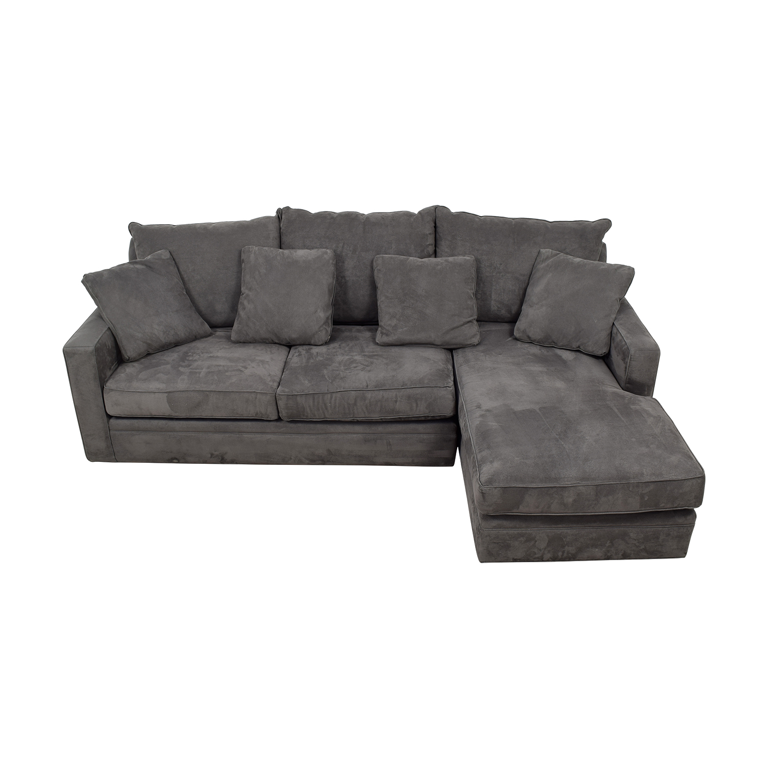 Room & Board Room & Board Grey Chaise Sectional Sectionals