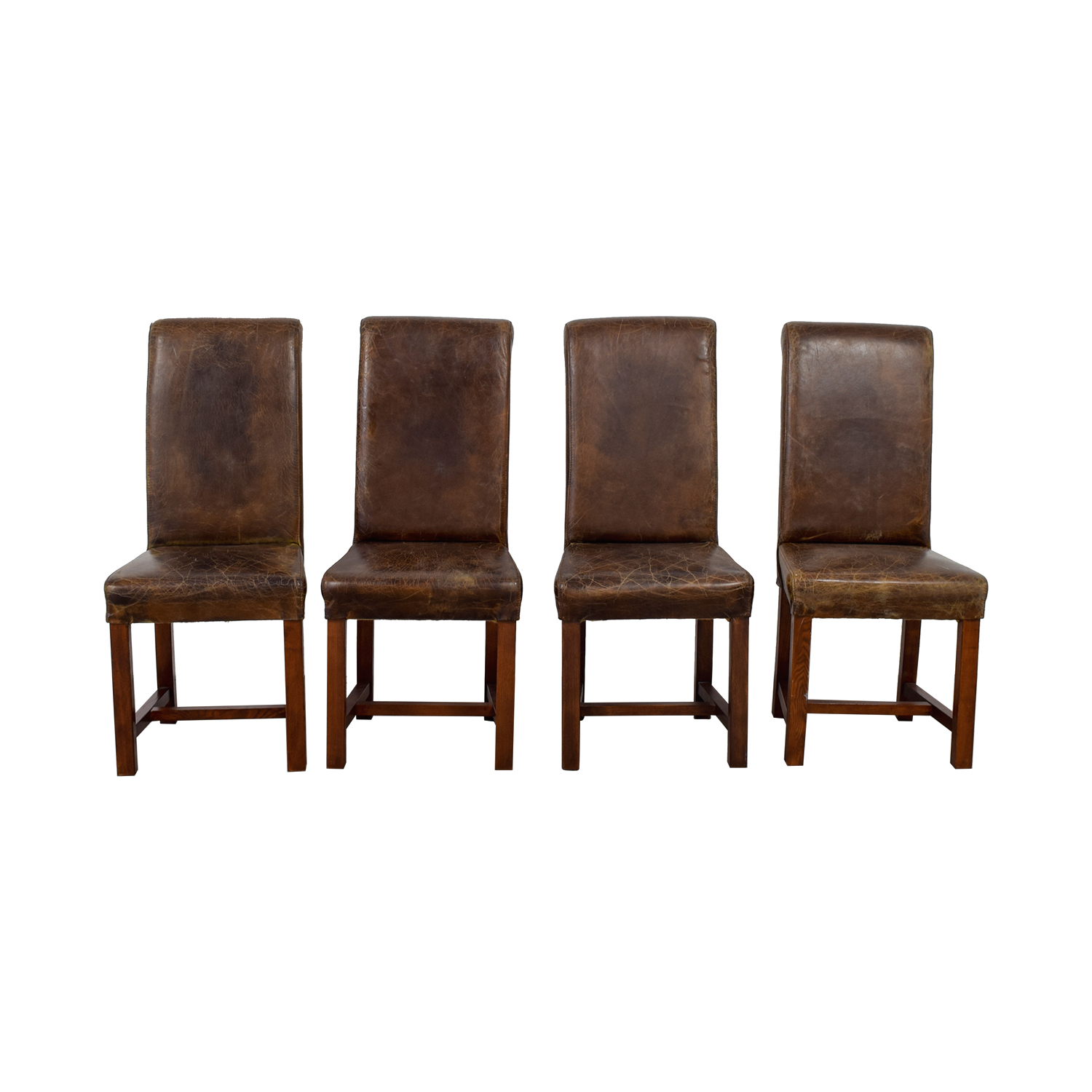 Faulkner Faulkner Distressed Brown Leather Chairs Chairs