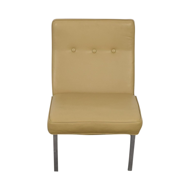 shop Knoll Furniture Beige Vinyl Slipper Chair Knoll Furniture