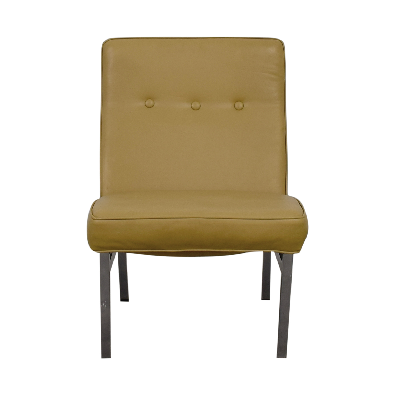 Knoll Furniture Knoll Furniture Beige Vinyl Slipper Chair on sale