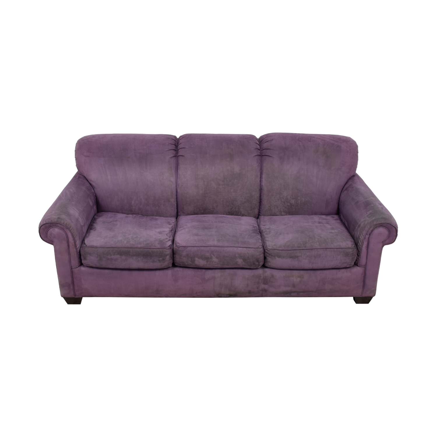 Rowe Rowe Purple Three-Cushion Sofa nj
