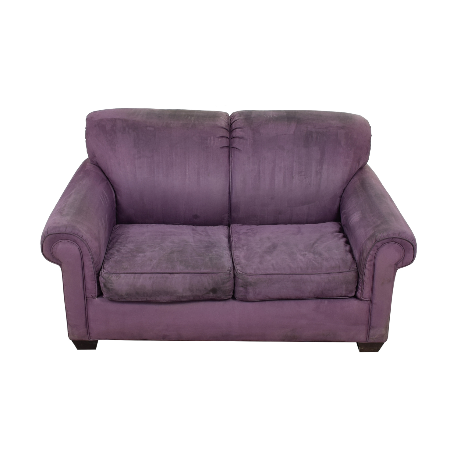 Rowe Purple Two-Cushion Loveseat Rowe