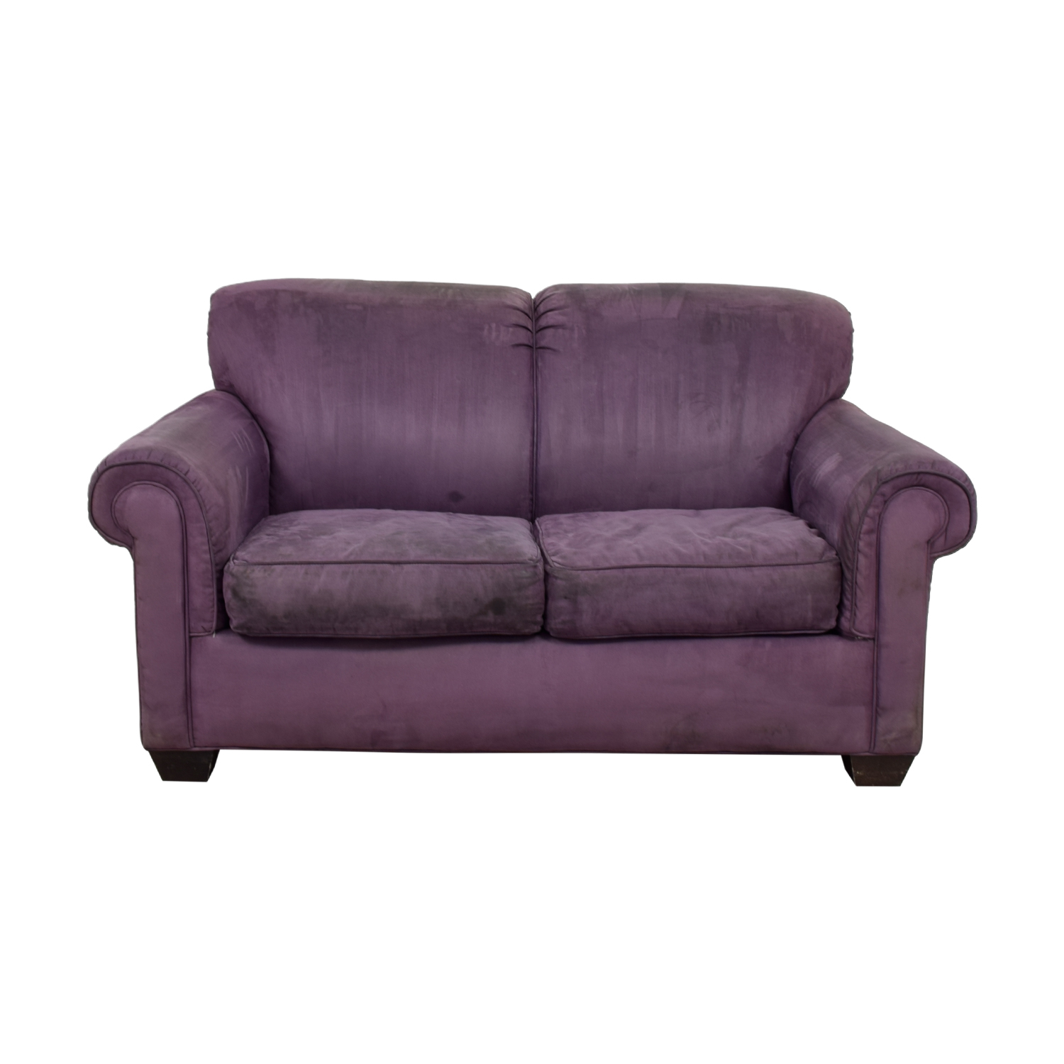 shop Rowe Purple Two-Cushion Loveseat Rowe