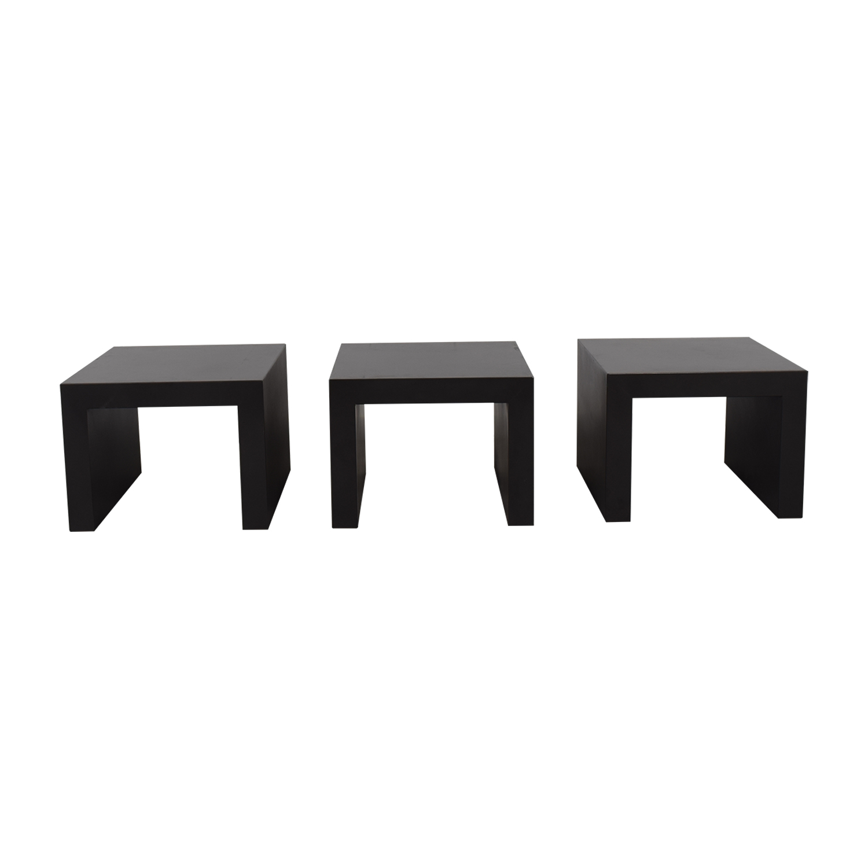 buy Room & Board Industry Steel Square Cube Tables Room & Board