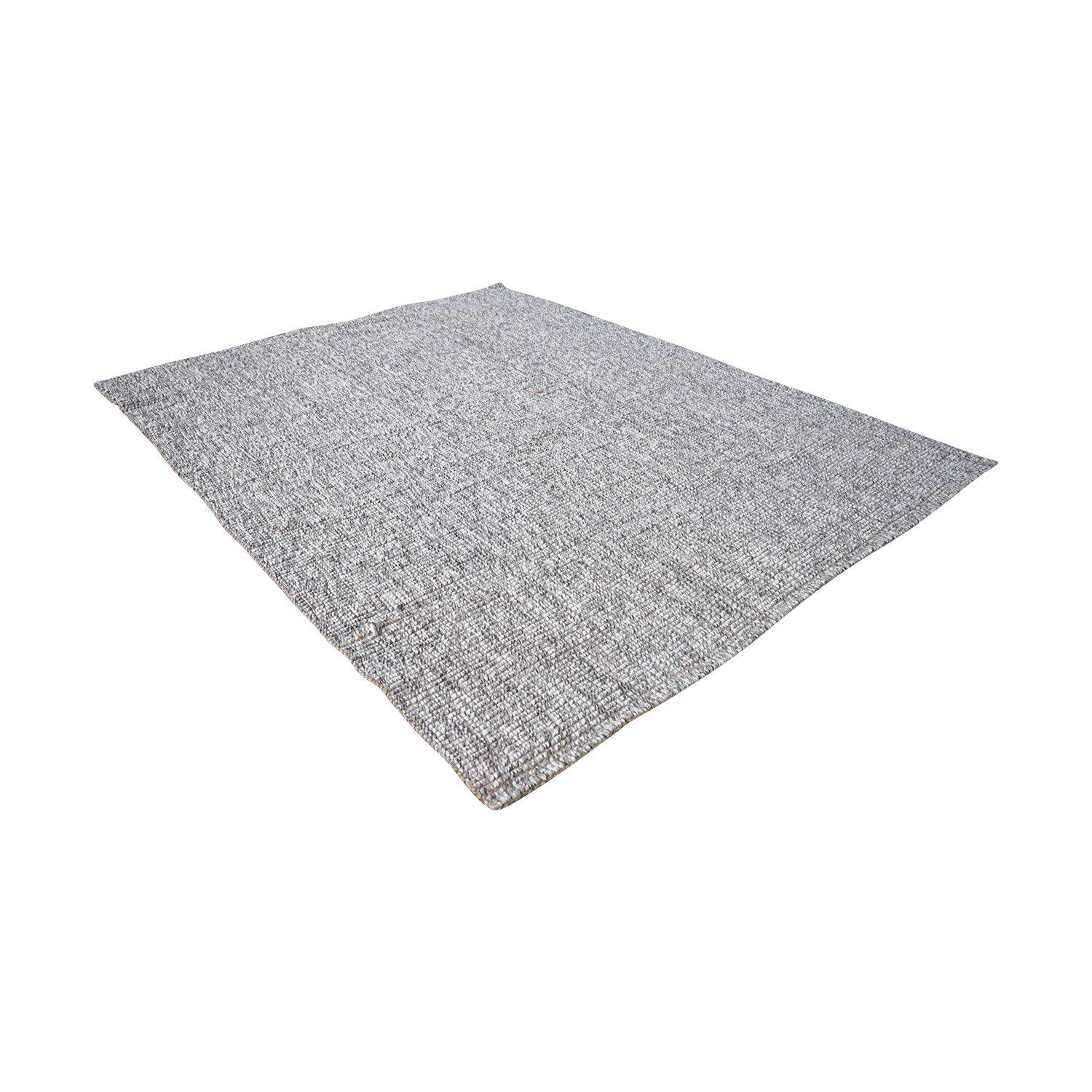 Crate & Barrel Crate & Barrel Grey 5x8 Popcorn Rug
