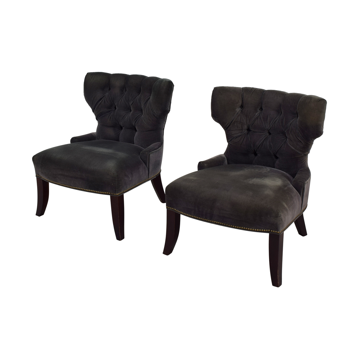 Exceptionnel ... Room U0026 Board Room U0026 Board Grey Velvet Accent Chairs ...