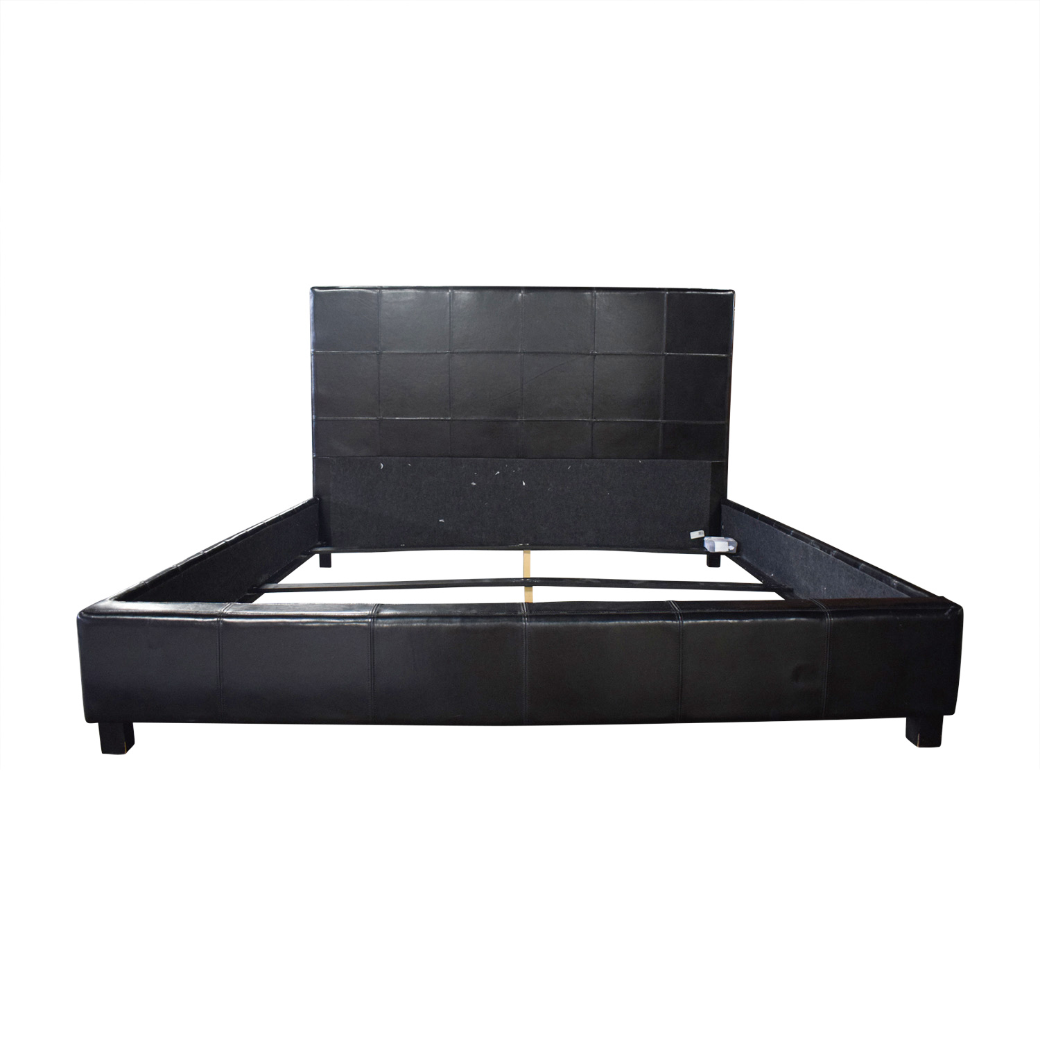 Macy's Macy's Ebony Leather King Bed nyc