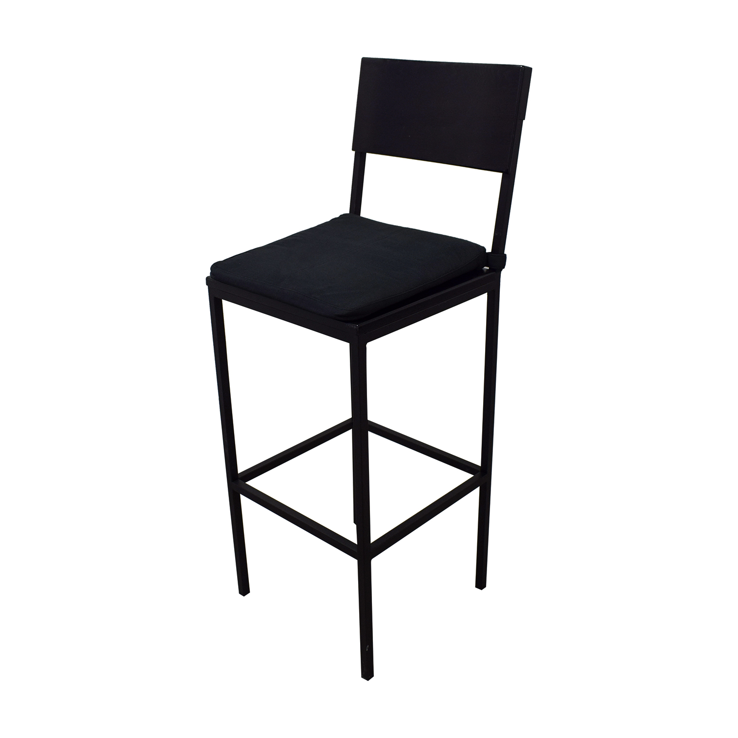 Crate & Barrel Crate & Barrel Black Tall Kitchen Dining Set for sale