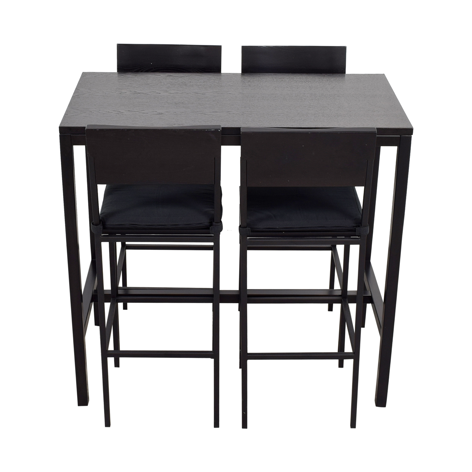 Crate & Barrel Black Tall Kitchen Dining Set sale