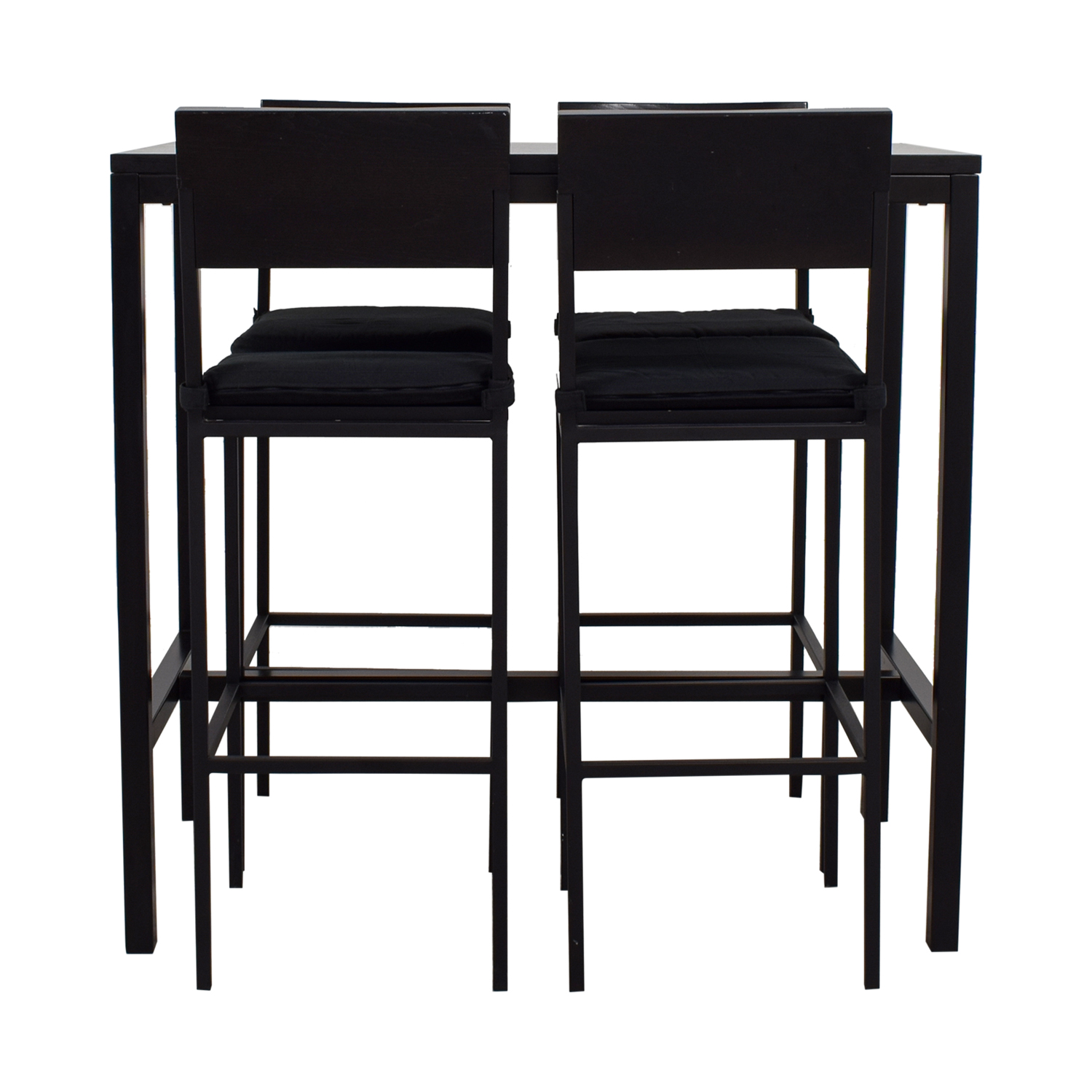 Crate & Barrel Black Tall Kitchen Dining Set Crate & Barrel