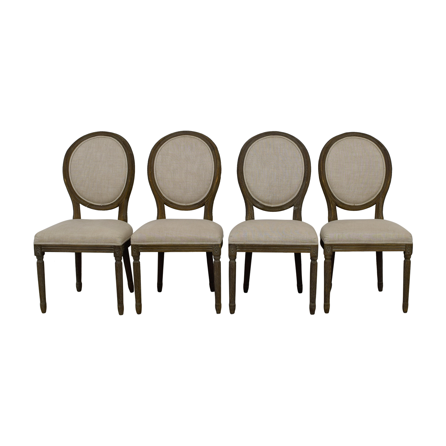 shop Restoration Hardware Vintage French Round Fabric Side Chairs Restoration Hardware Chairs