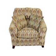 Asymmetrical Accent Chair with Pillows