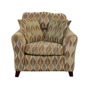 Asymmetrical Accent Chair with Pillows on sale