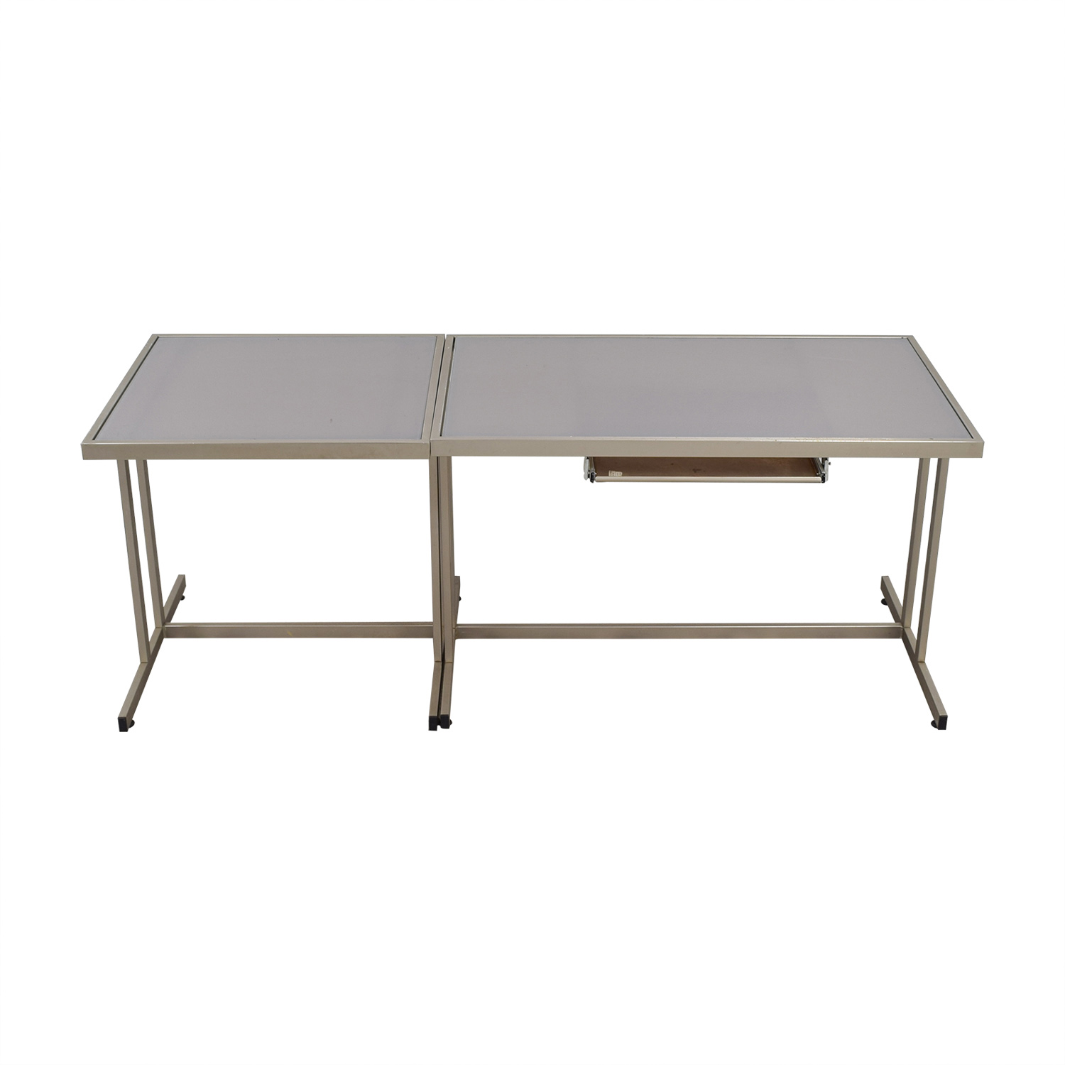 West Elm Modern Desk with Pull Out Tray West Elm