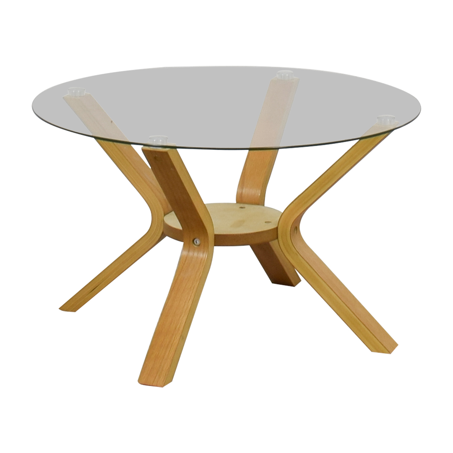 buy  Glass Top Spread Oak Veneer Base Side Table online