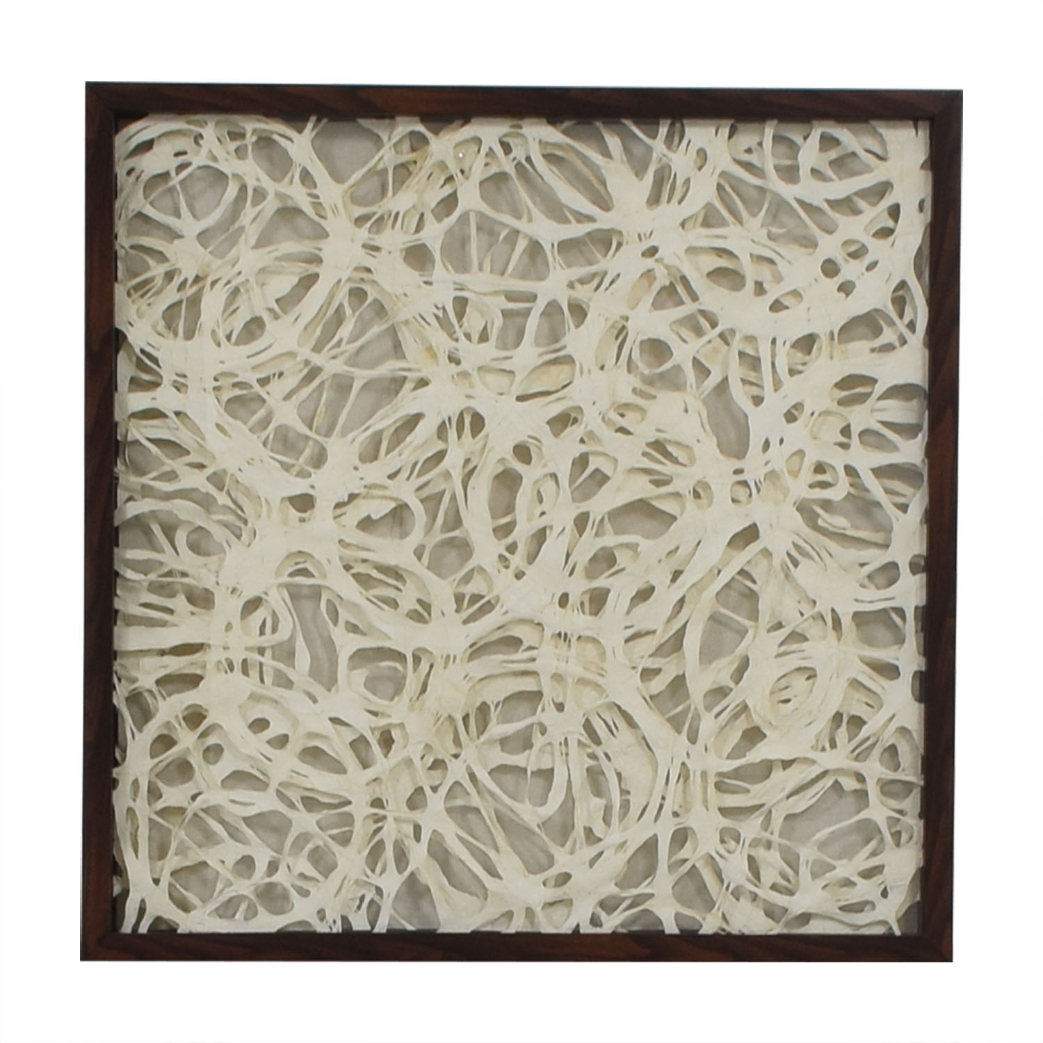 Overlapping Strings Wood Framed Art used