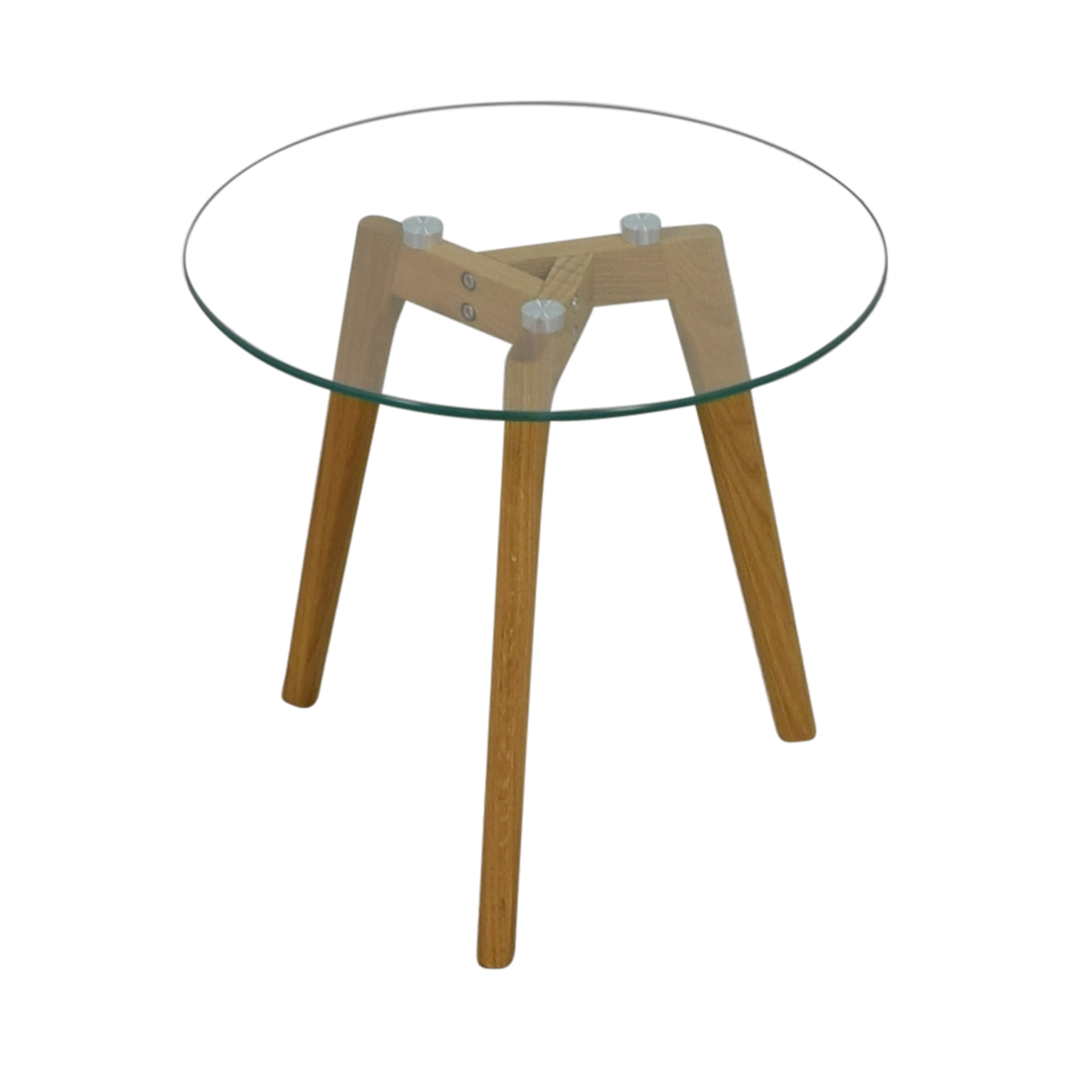 Monarch Monarch Tripod Round Glass Side Table discount