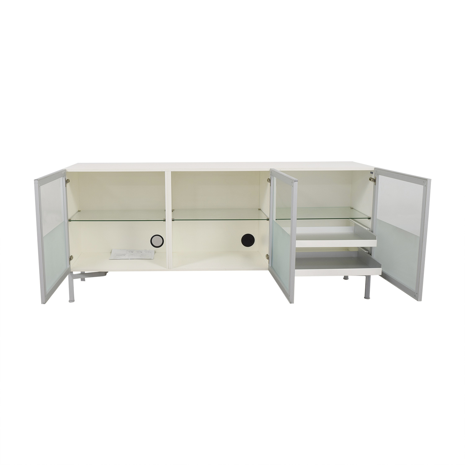 buy Design Within Reach Design Within Reach Alto Cream and Glass Credenza online