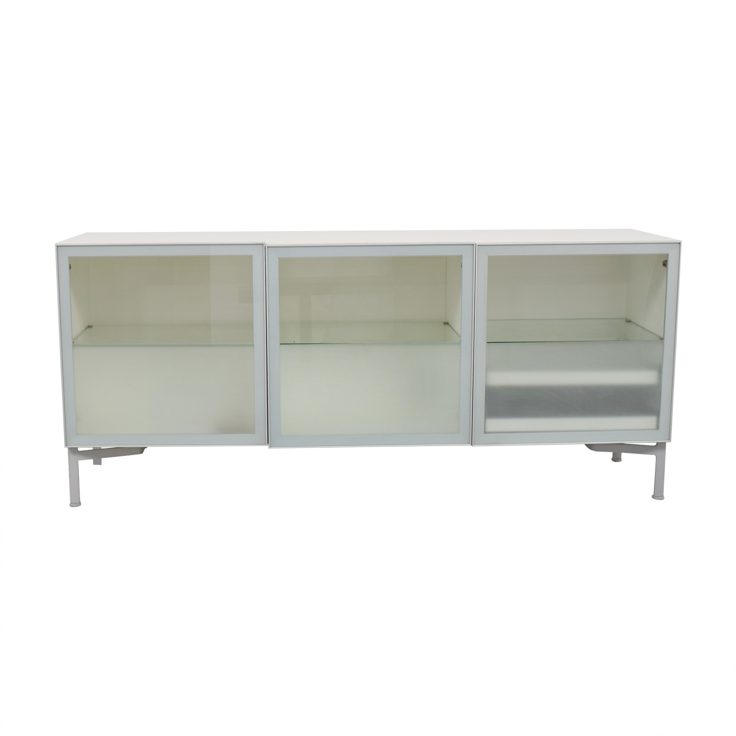 Design Within Reach Alto Cream And Gl Credenza Storage