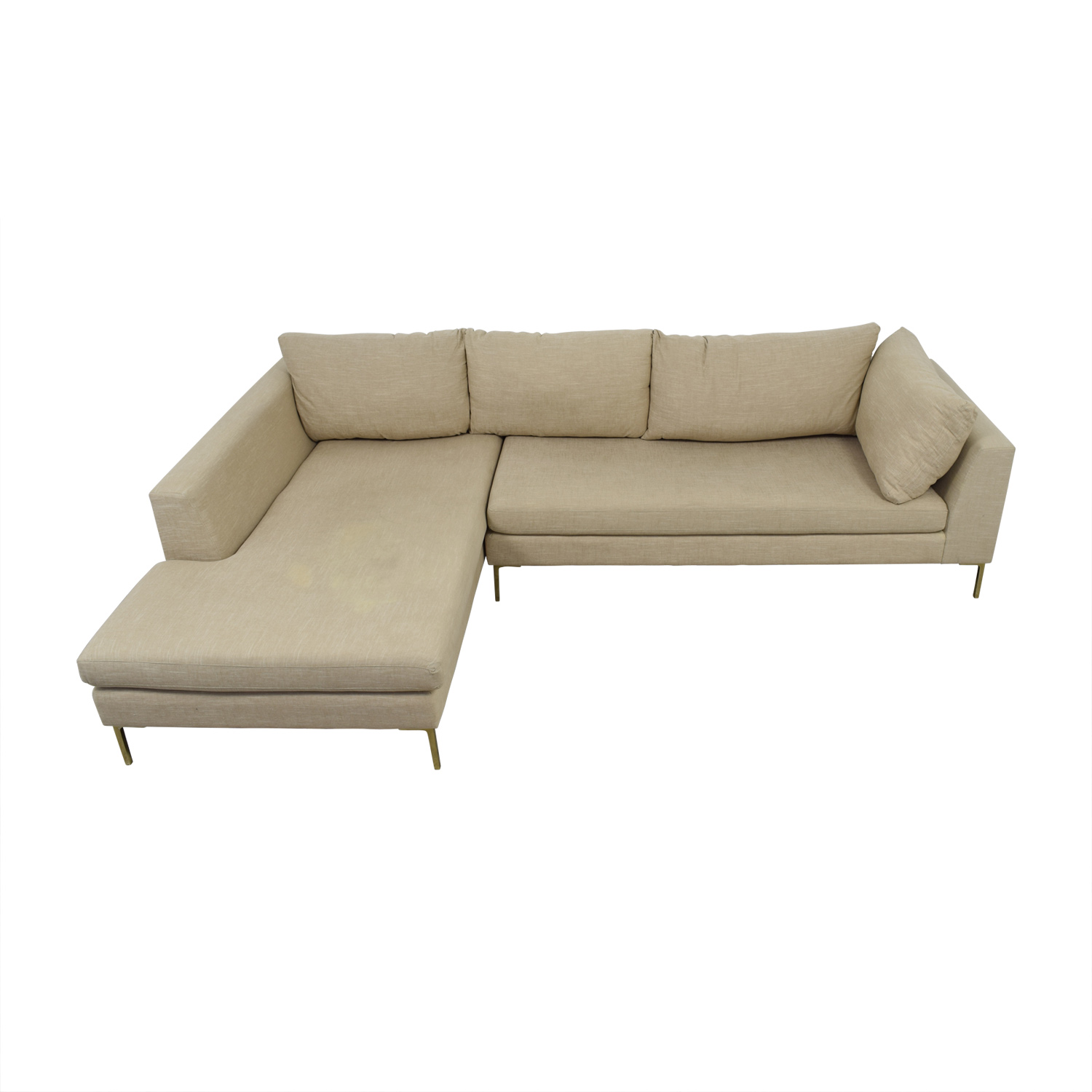 Anthropologie Anthropologie Beige L-Shaped Sectional Sofas