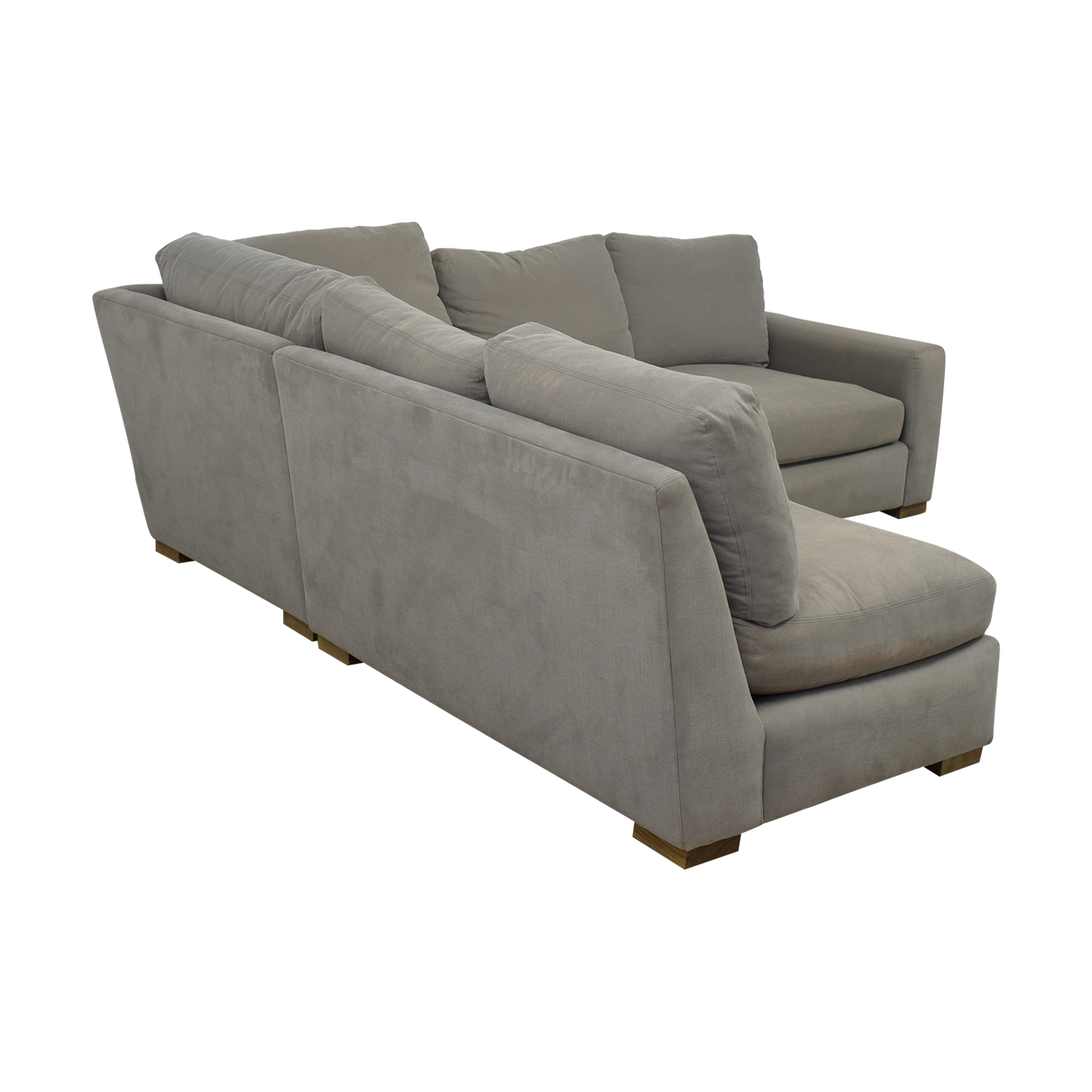 Restoration Hardware Restoration Hardware Grey L-Shaped Sectional grey