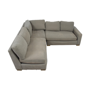 Restoration Hardware Restoration Hardware Grey L-Shaped Sectional dimensions