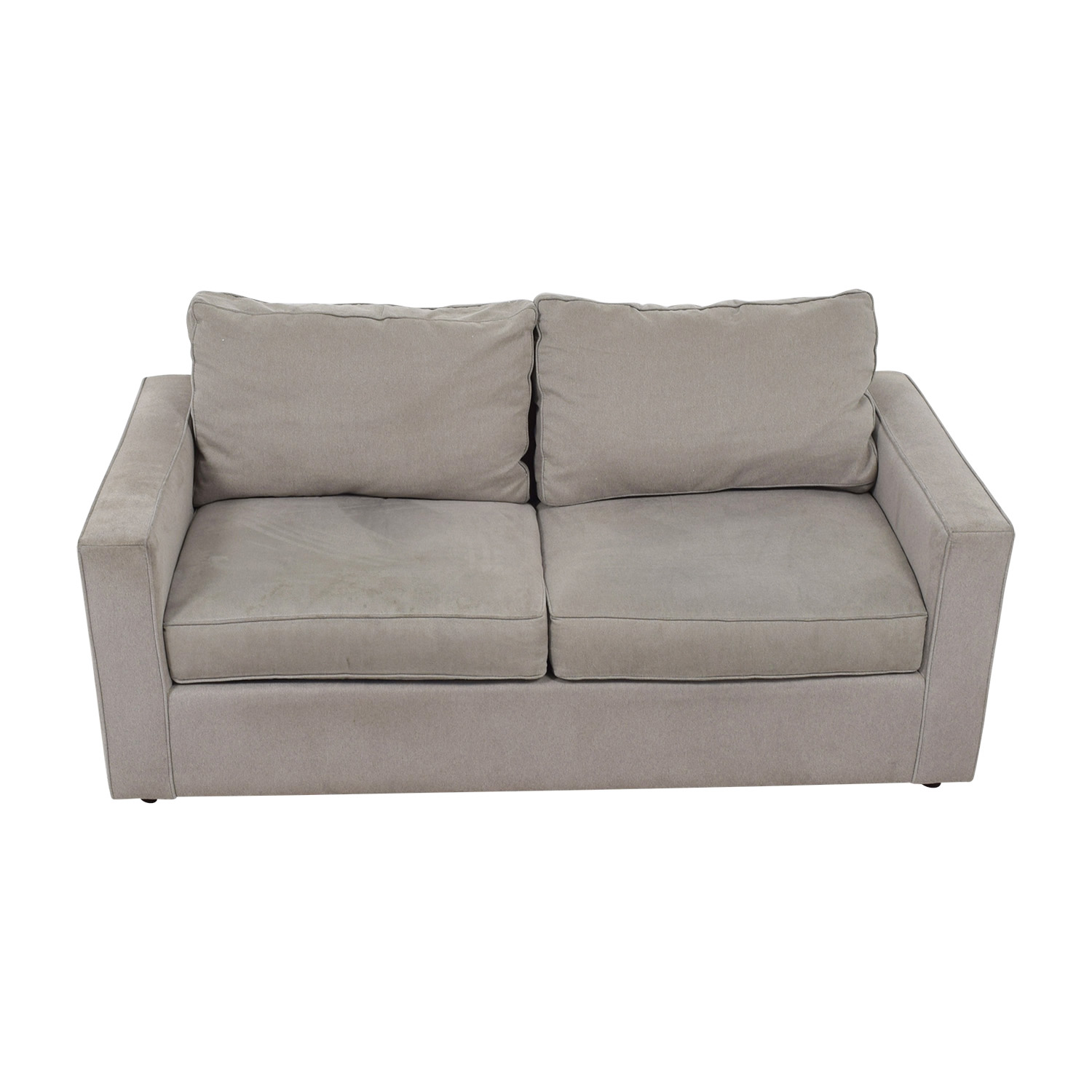 shop Room & Board York Grey Two-Cushion Sofa Room & Board Classic Sofas